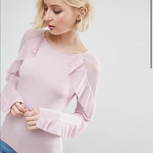 ASOS Top with Ruffle Sleeves
